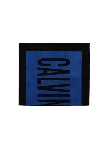 Calvin Klein Plaj Havlusu Mavi